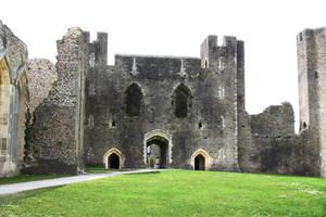 Castle courtyard by CAStock