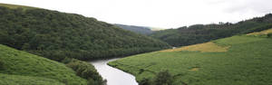 Brecon river panorama