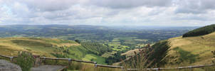 Brecon fields panorama