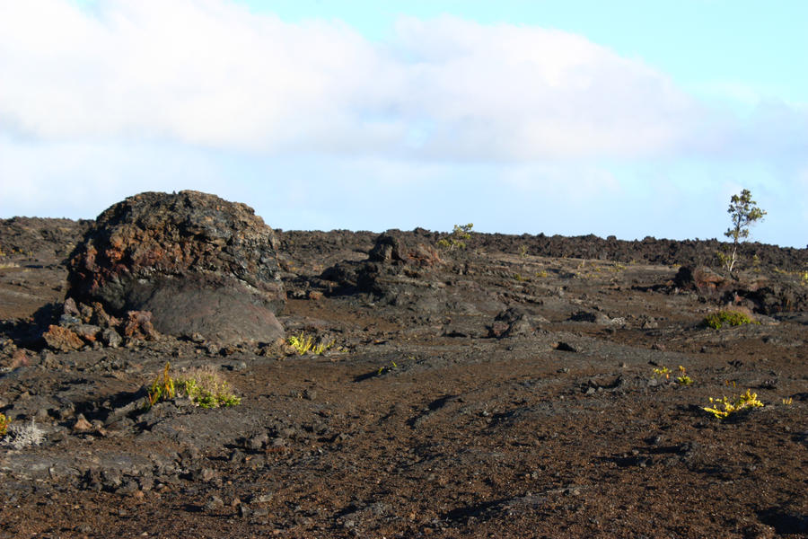 Crackling lava