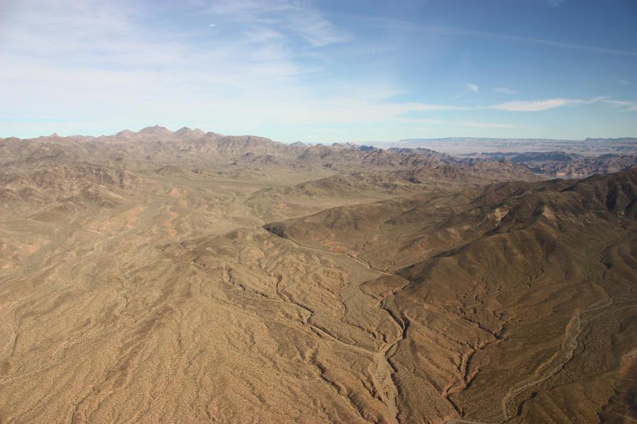 Desert from the sky by CAStock