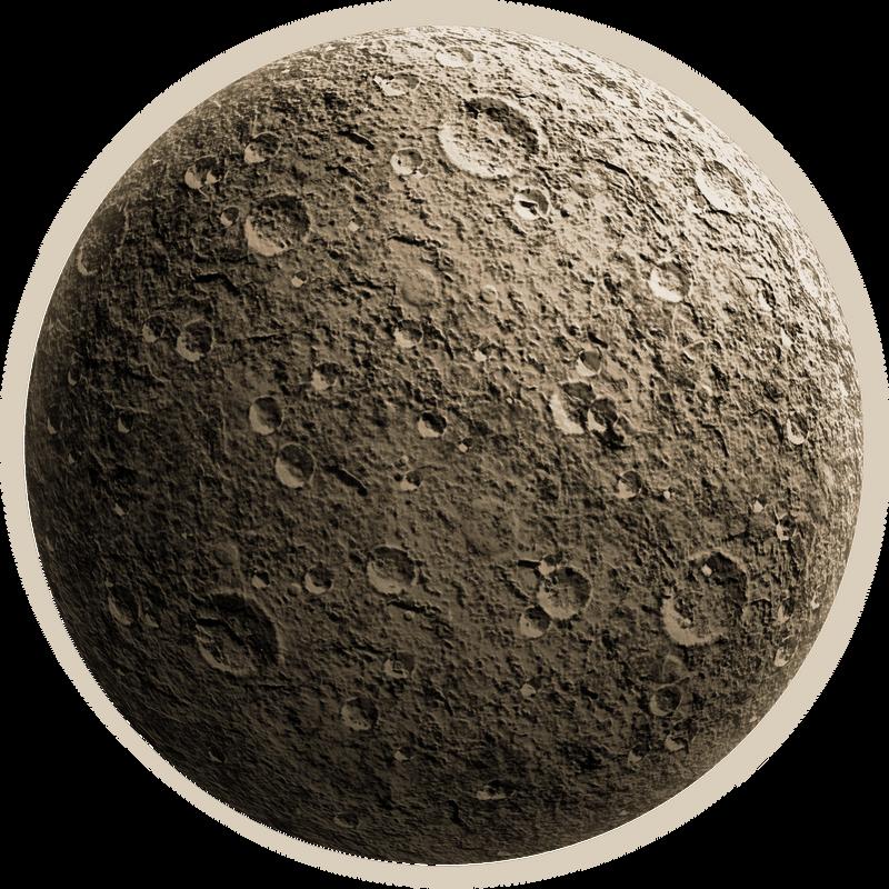 Rough moon
