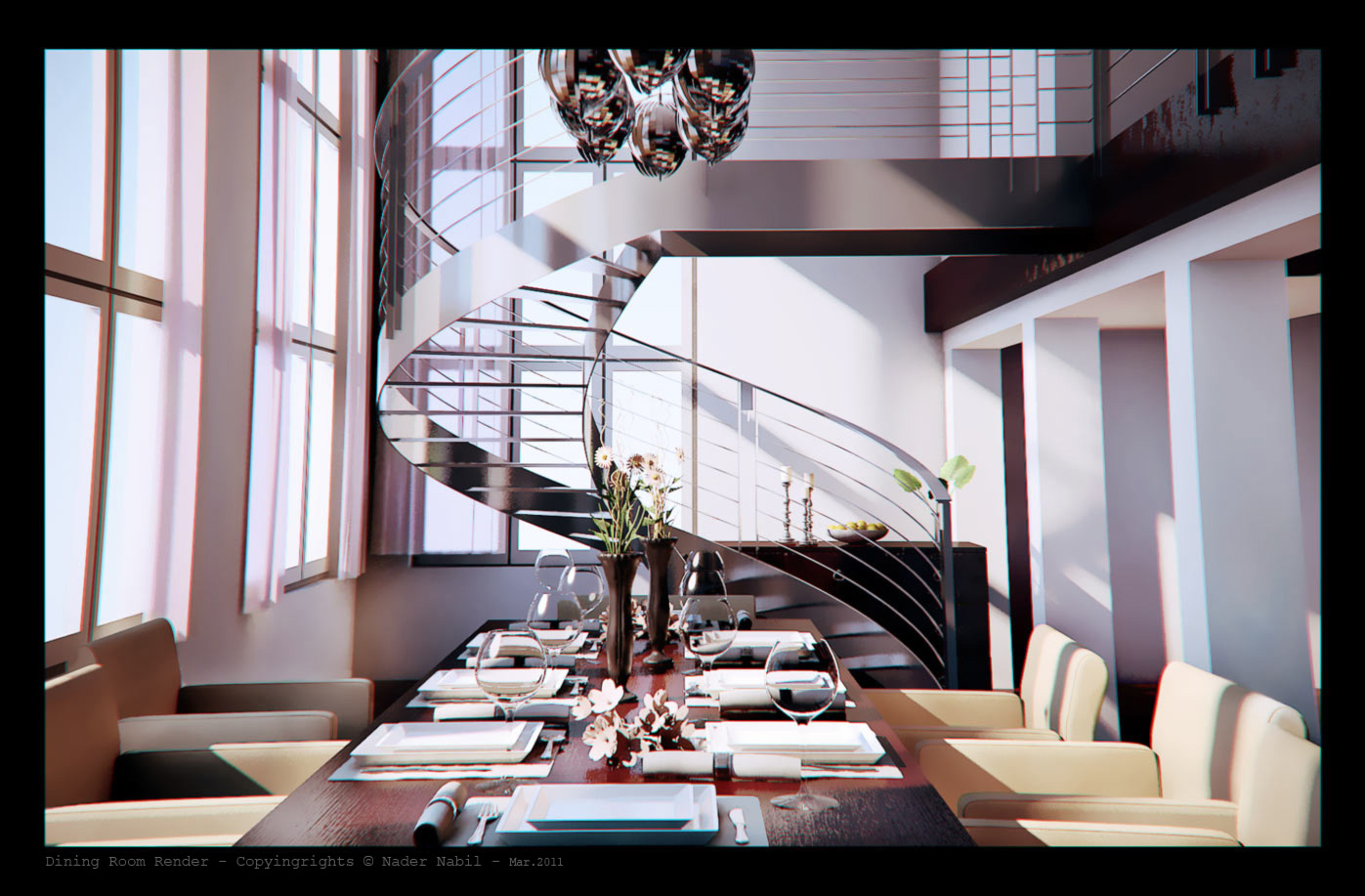 Dining Room render by naderdes