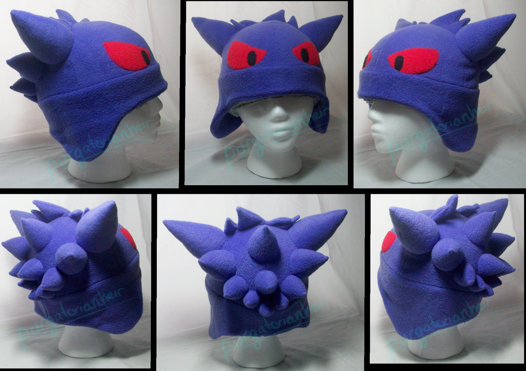 Pokemon Fleece Hat: Gengar by PurgatorianHeir