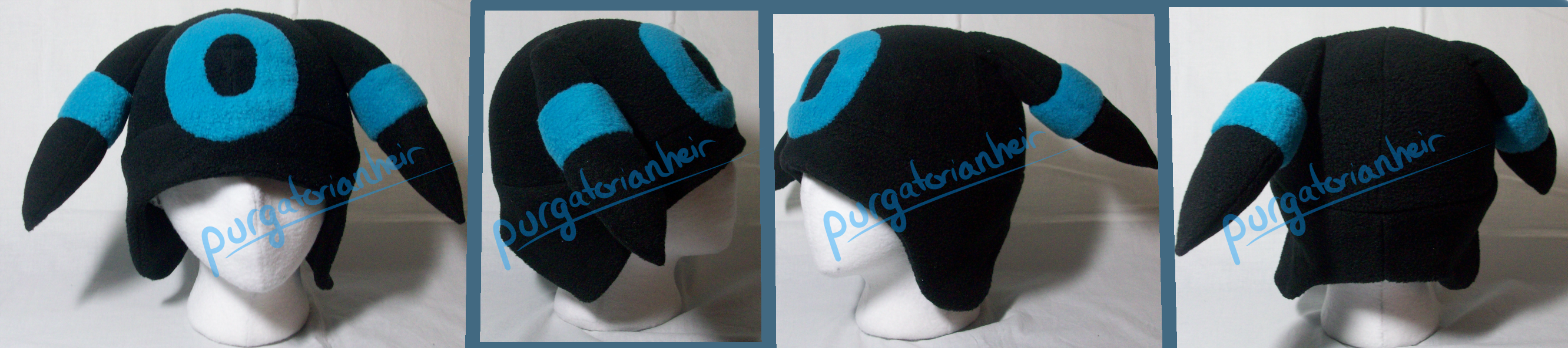 For Sale: Pokemon Fleece Hat: Shiny Umbreon by PurgatorianHeir