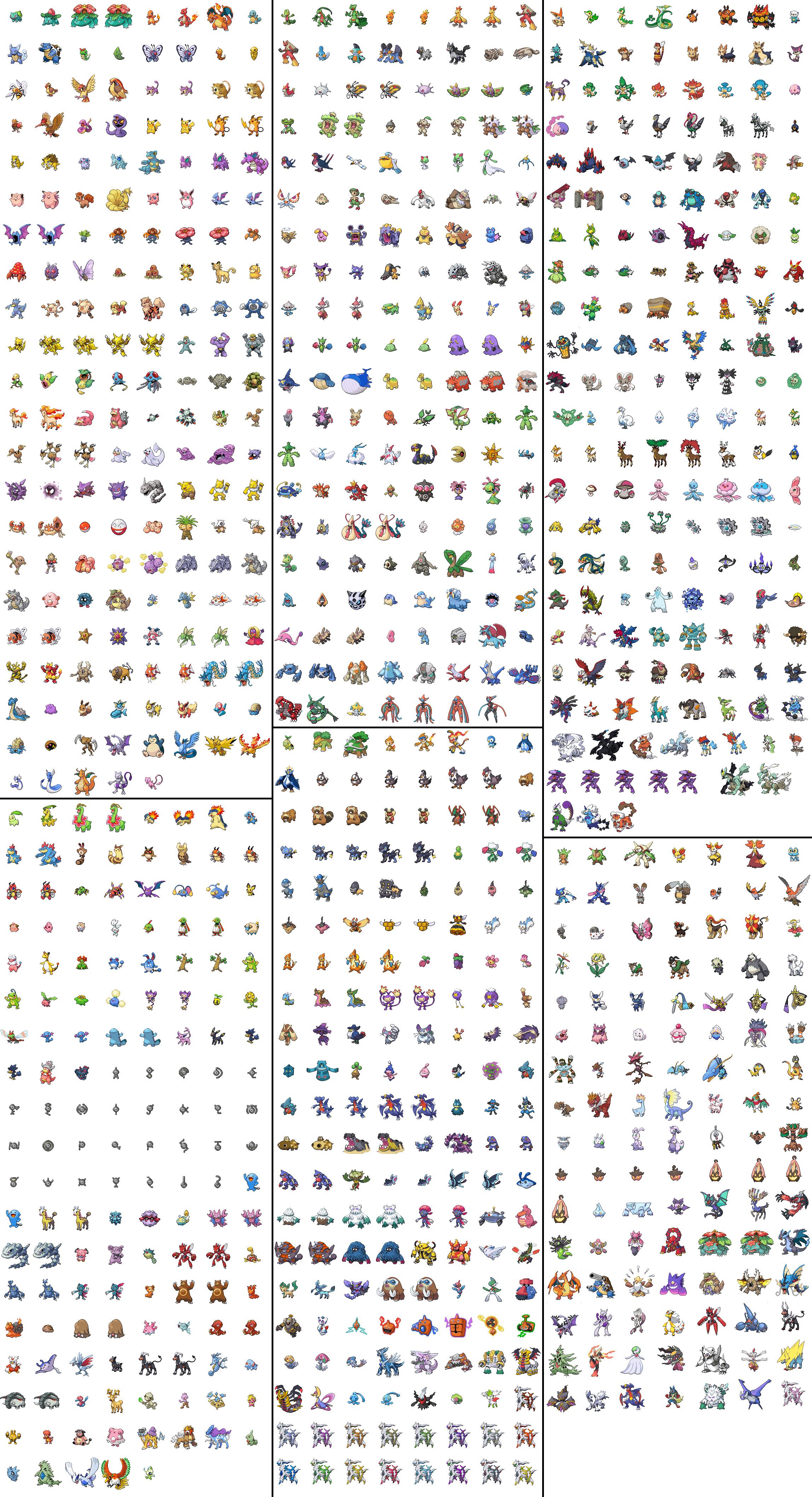 Updated B/W Sprite Sheet by Shimmey1001 on DeviantArt