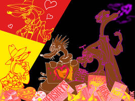 Valentine Toon Patrol by mikmix