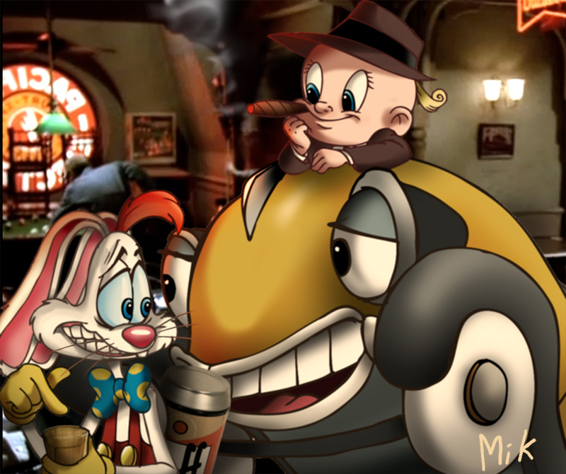 Roger and friends at the bar by mikmix
