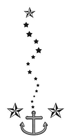 anchor and nautical stars by amamoslavida on deviantart. Black Bedroom Furniture Sets. Home Design Ideas