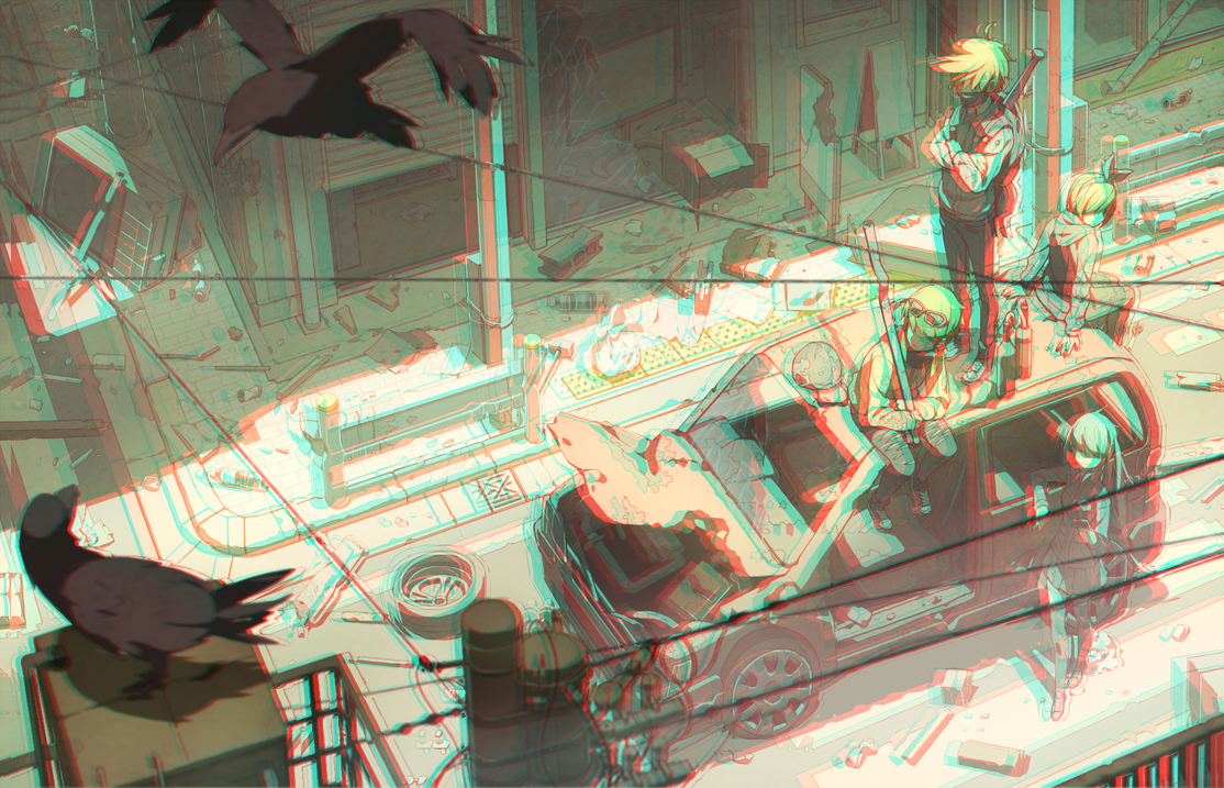 Eastend Pandemoniumin in 3D Anaglyph by Zidneya