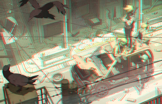 Eastend Pandemoniumin in 3D Anaglyph