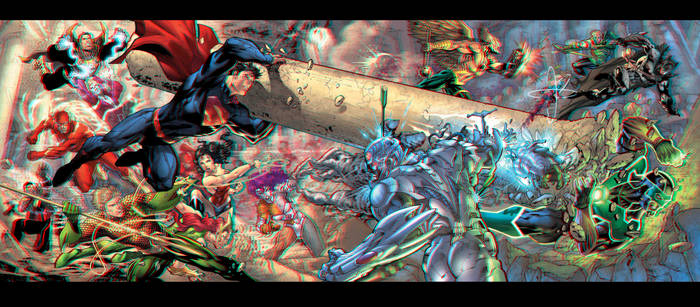 Trinity War in 3D Anaglyph
