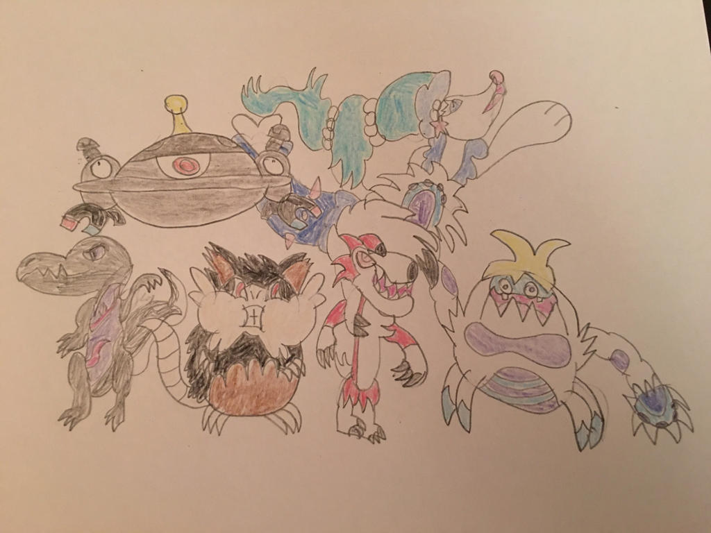 My Pokemon Moon Team  by ALuckyToaster