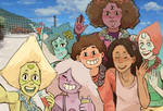 Crystal Gems on a Vacation