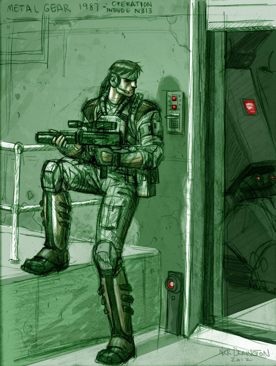Metal Gear 1987 by nickdaring