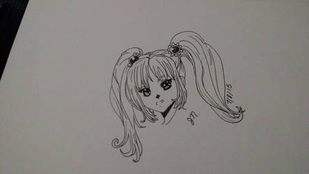 hair and ink practice