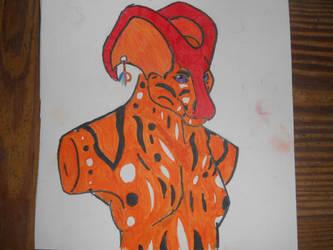 Alien Bust by Calypsoeclipse
