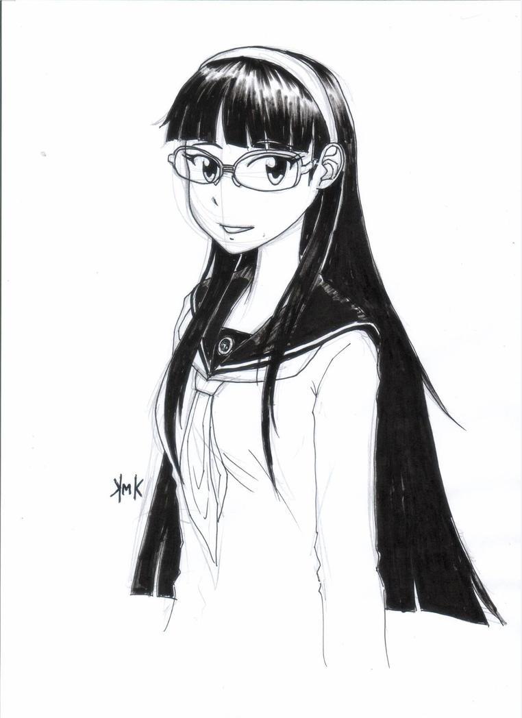 Yukiko Amagi Persona 4 Inktober 2014 by KuroiKai-tmk