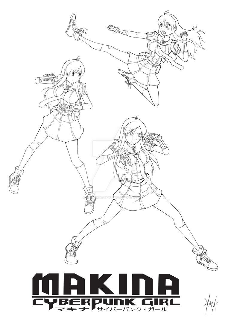 MAKINA - Fight Moves And Poses by KuroiKai-tmk
