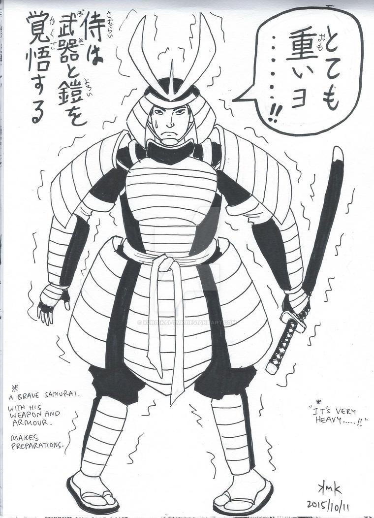 INKTOBER 2015 11 A - Samurai Haiku by KuroiKai-tmk