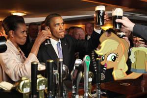 Barack Obama - Applejack by normanb88