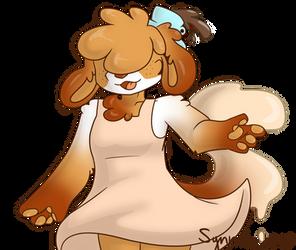 Coffee doggo by synnibear03
