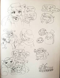 Sum weird PvZ doodles by synnibear03