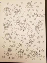 Doodle vomit