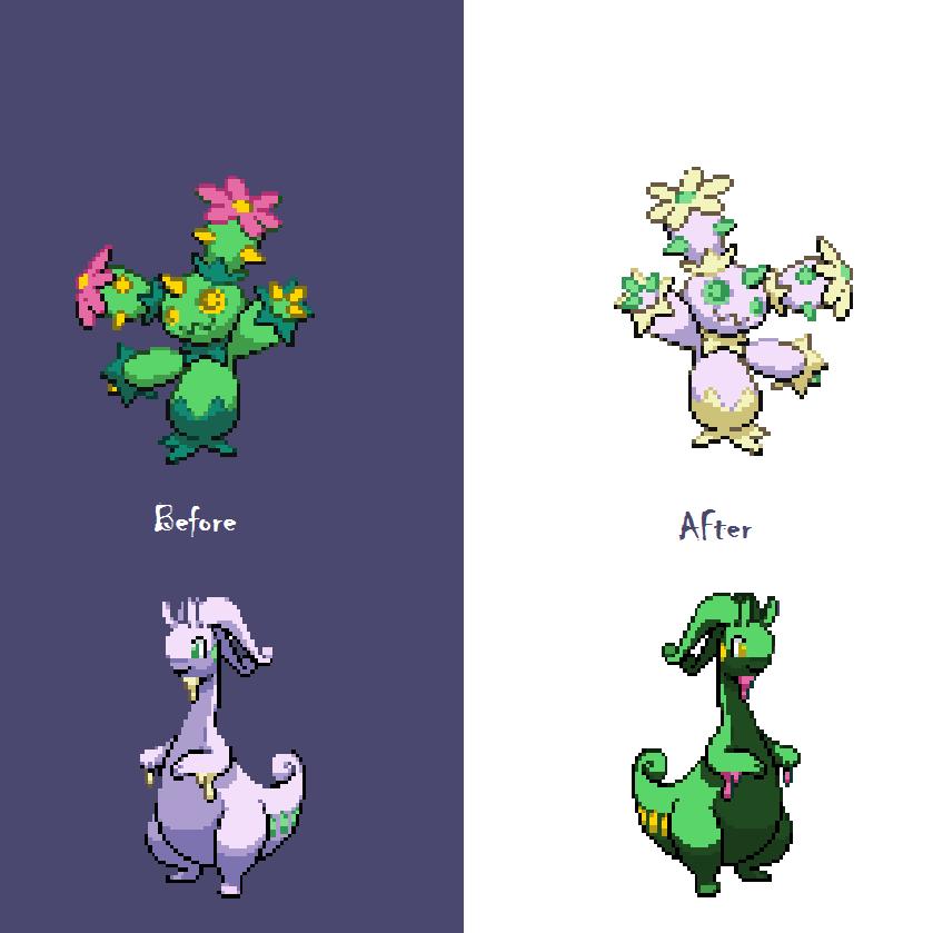 Goodra and Maractus Color Swap (X/Y SPRITE UPDATE) by ...