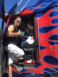I met the Optimus Prime replica truck! by TheHiddenPredacon