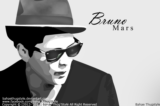 Bruno Mars Vector By BahaeThugStyle On DeviantArt