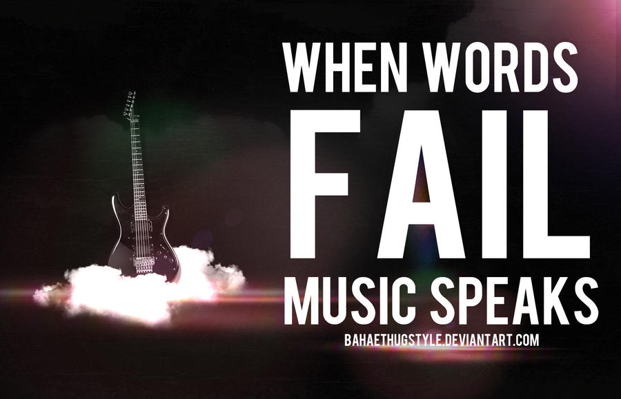 Music Quote : Black Guitar by BahaeThugStyle