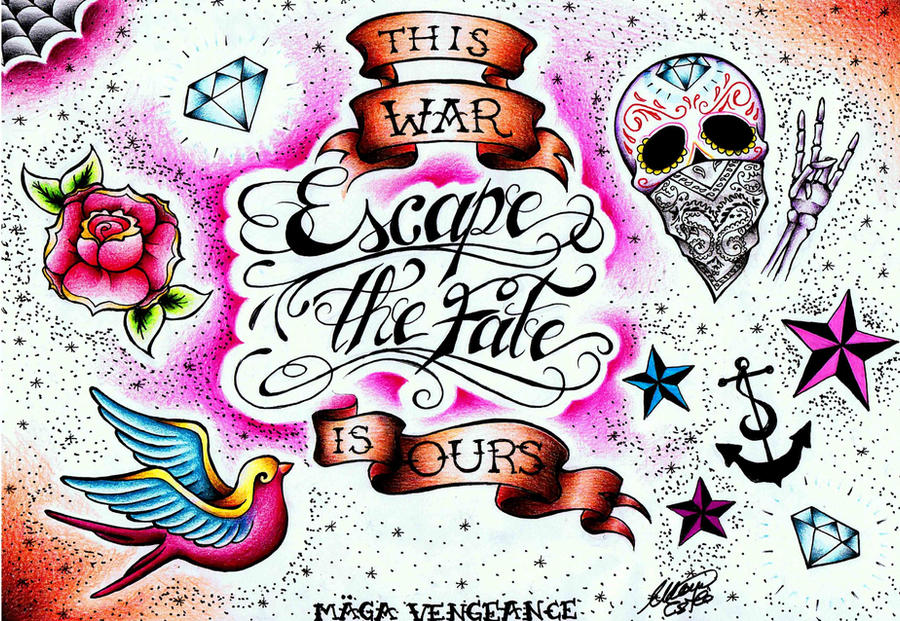 Escape The Fate Tattoo Design by maga-a7x