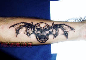 Deathbat tattoo by maga-a7x