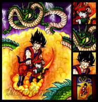 Dragon Ball - Goku and Gohan by maga-a7x