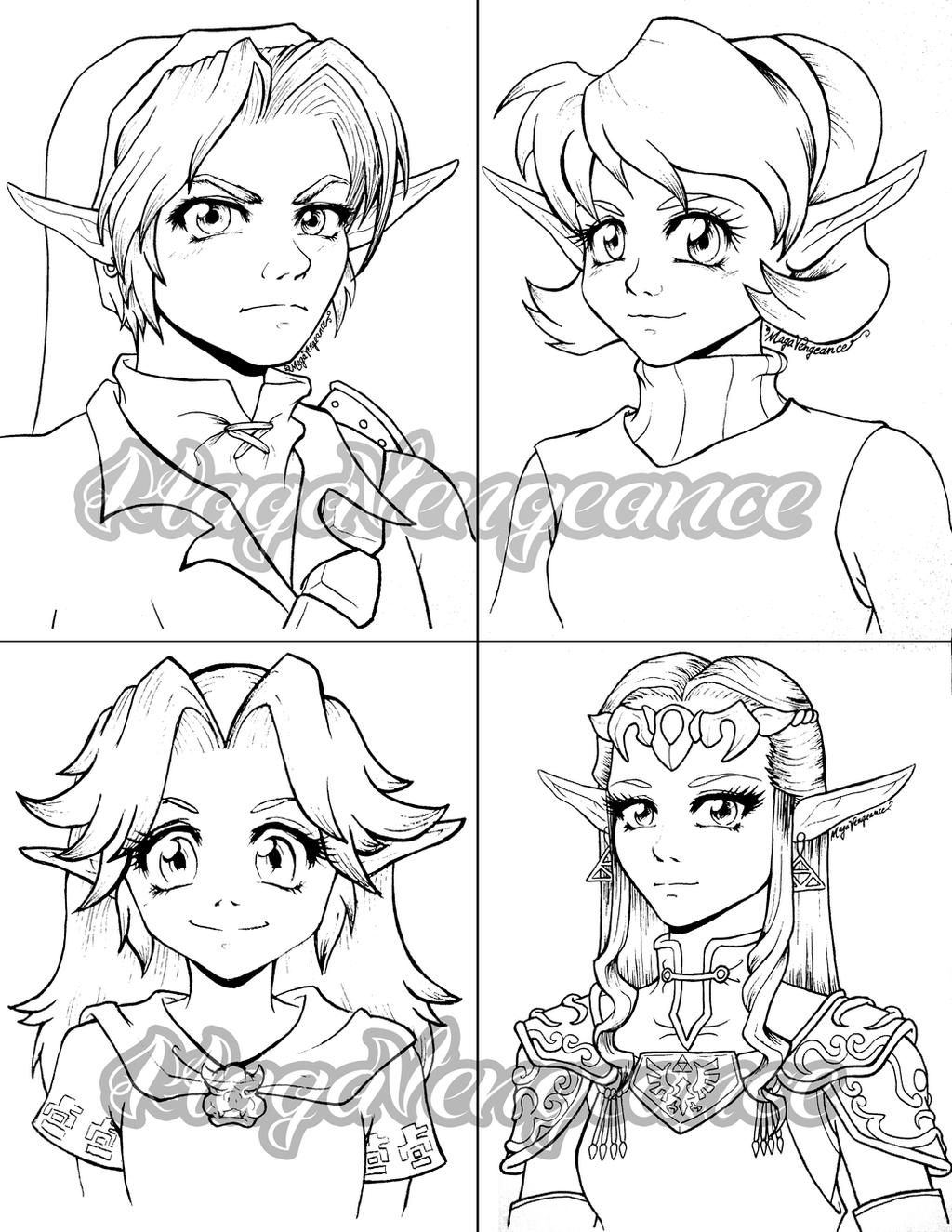 Legend of Zelda characters by maga-a7x