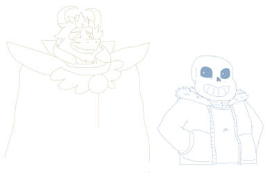 Asgore and Sans doodle by LyokoBlight