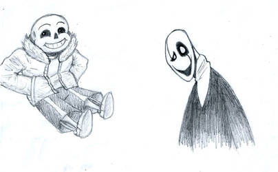 Sans and Gaster Sketch by LyokoBlight