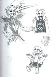 Various Undertale Doodles part 2 by LyokoBlight