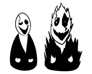 spooked gaster by LyokoBlight