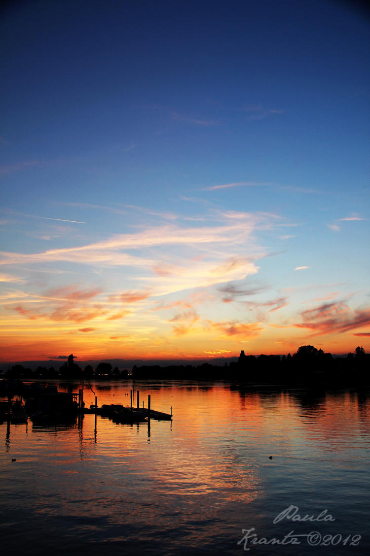 Sunset over Bodensee by Thilu