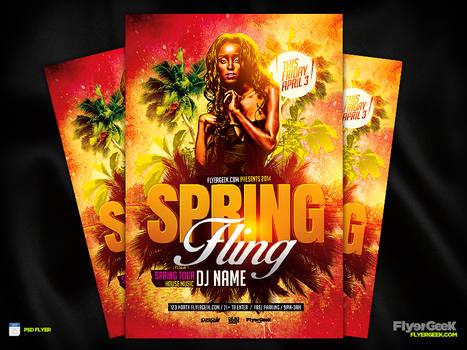 Spring Fling Flyer Template PSD