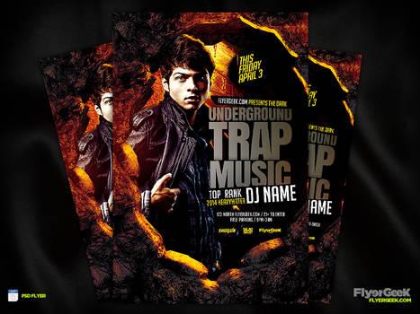 Trap Music Flyer Template PSD