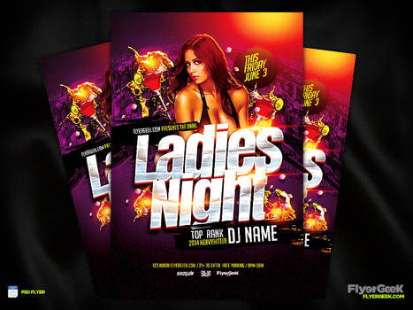 Ladies Night Flyer Template PSD