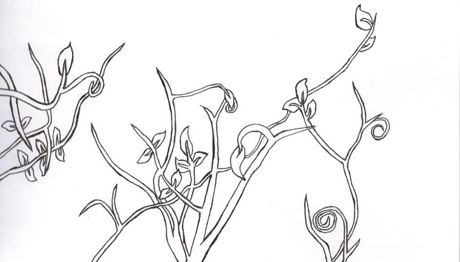 Vines or branches by moonsetta on deviantart for Vine and branches coloring page