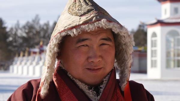 a portrait of a buddist monk by aisumasen