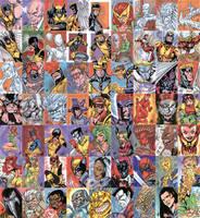 X-Men Archives Sketchcards by stalk