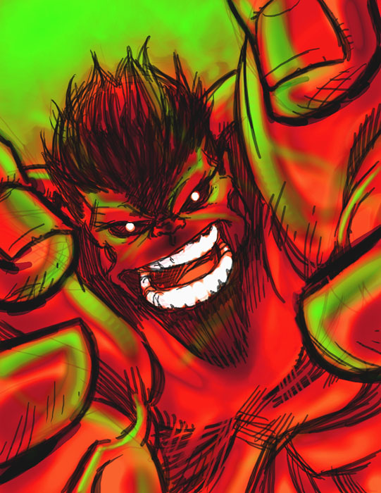 DSC RED HULK by stalk