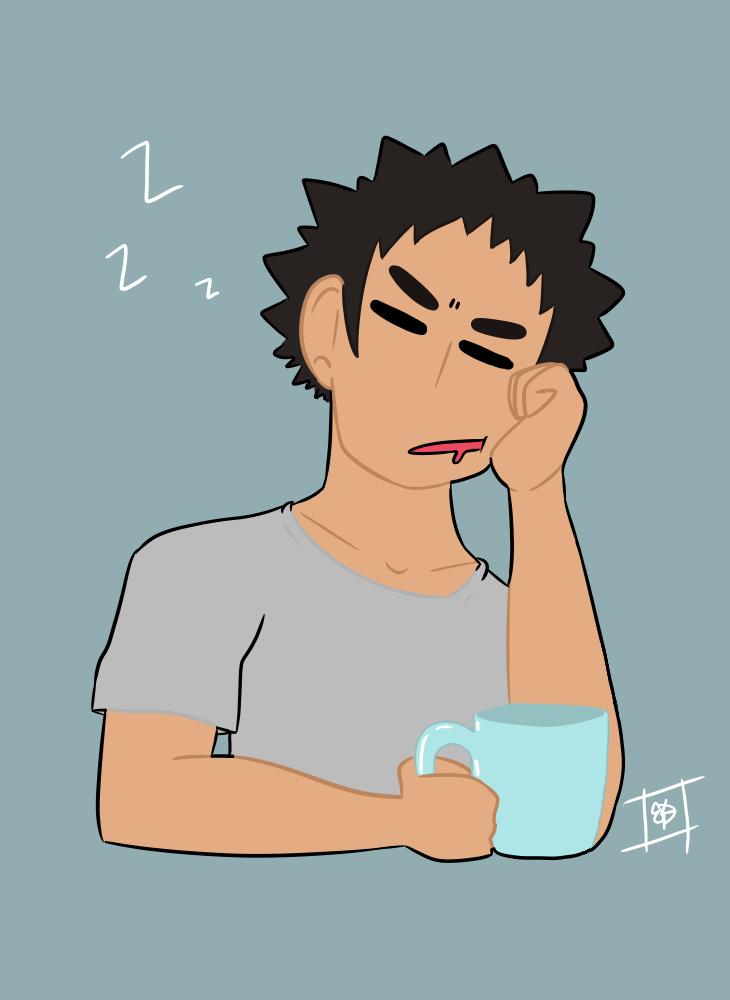 sleepy iwa by ToxicCrayonz