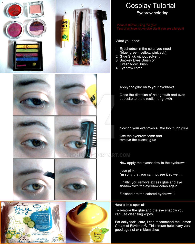 Tutorial - Eyebrow Coloring by Kanue